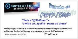 locandina bando concorso di istituto switch off bullismo 2 edizione