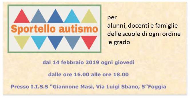 sportello autismo 2019