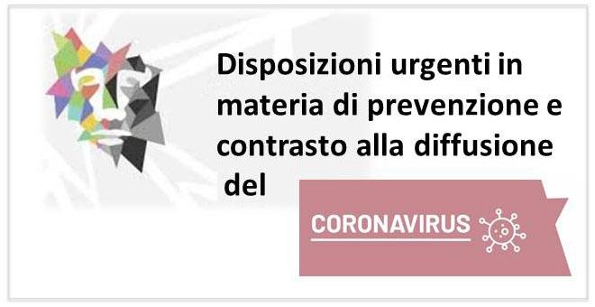locandina sito coronavirus
