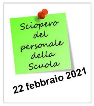 locandina sciopero 22 febbraio