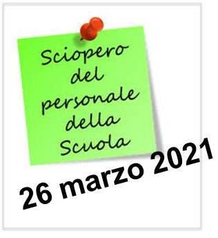 locandina sciopero 26 marzo 2021