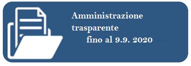 amministrazione trasparente fino al 9 sett 2020
